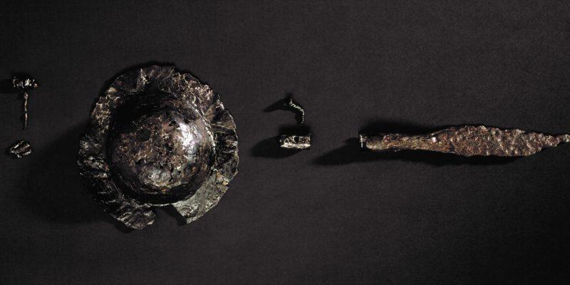 Das Brandgrubengrab eines germanischen Kriegers aus Schmorkau stammt aus der Zeit um Christi Geburt.